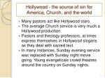 hollywood the source of sin for america church and the world1