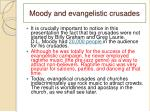 moody and evangelistic crusades