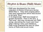 rhythm blues r b music