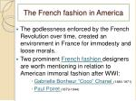 the french fashion in america