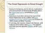 the great depression great drought
