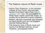 the satanic nature of rock music