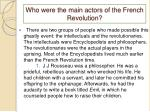 who were the main actors of the french revolution