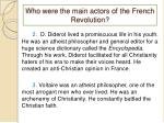 who were the main actors of the french revolution1