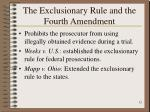 the exclusionary rule and the fourth amendment