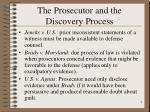 the prosecutor and the discovery process