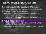 nuevo modelo de quorum