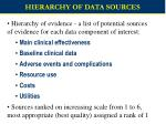 hierarchy of data sources