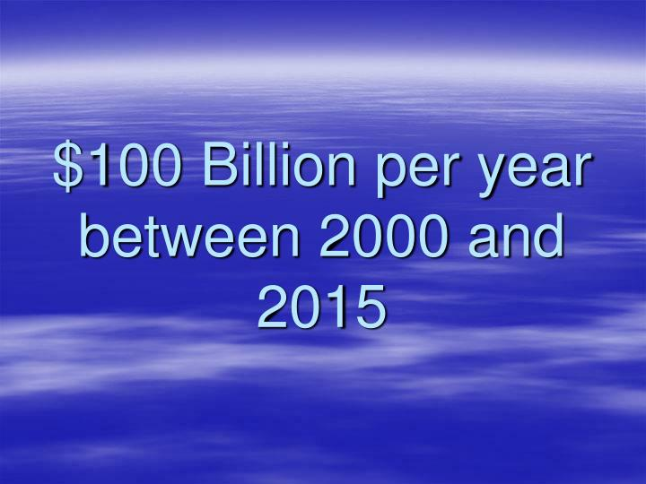 $100 Billion per year between 2000 and 2015