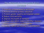 the millennium development goals mdgs