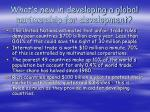 what s new in developing a global partnership for development