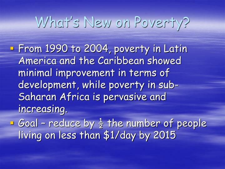 What's New on Poverty?