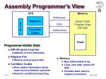 assembly programmer s view