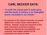 carl becker says