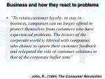business and how they react to problems2