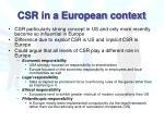 csr in a european context