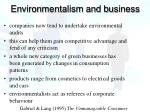 environmentalism and business1