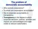the problem of democratic accountability