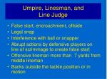 umpire linesman and line judge