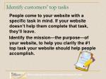 identify customers top tasks