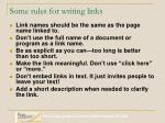some rules for writing links
