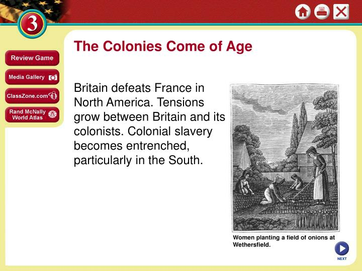 an analysis of the topic of the tensions between the britain and the colonies