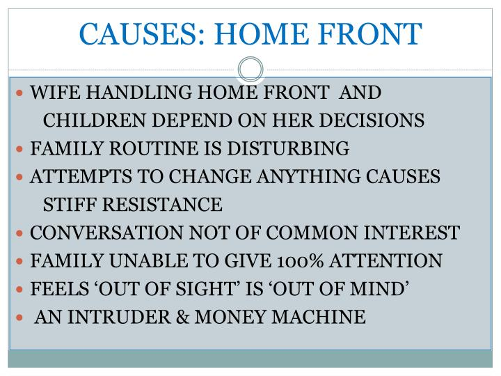 CAUSES: HOME FRONT