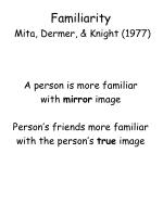 familiarity mita dermer knight 1977
