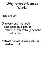 why attractiveness works