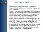 leoninus f 1160 1201
