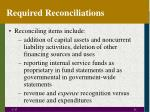 required reconciliations