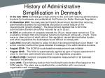 history of administrative simplification in denmark