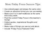 more friday focus success tips