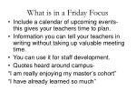 what is in a friday focus