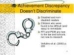 iq achievement discrepancy doesn t discriminate
