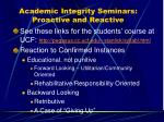 academic integrity seminars proactive and reactive