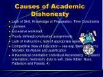 causes of academic dishonesty