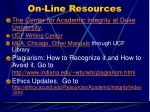 on line resources