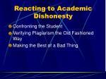 reacting to academic dishonesty