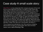 case study a small scale story