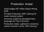 production avatar