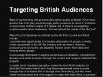 targeting british audiences