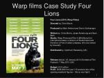 warp films case study four lions
