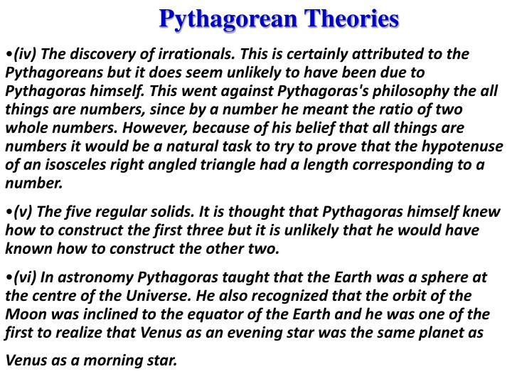 Pythagorean Theories