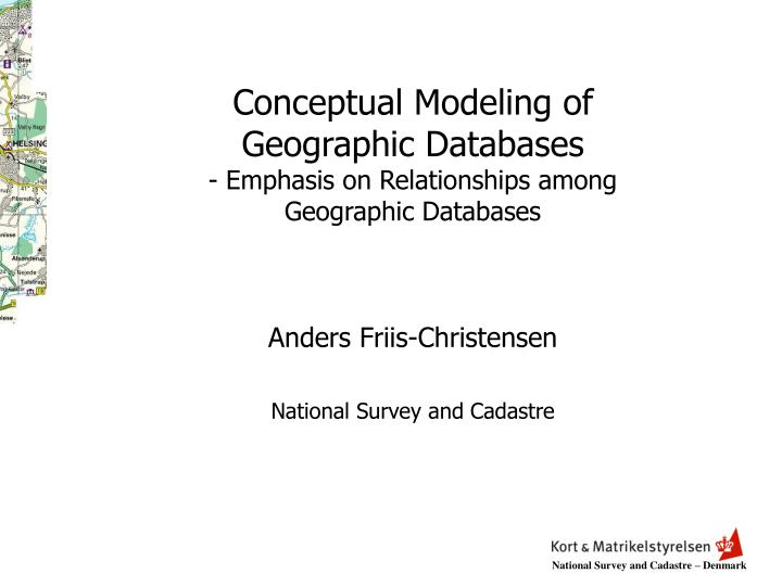 conceptual modeling of geographic databases emphasis on relationships among geographic databases n.