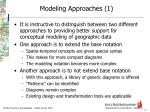 modeling approaches 1