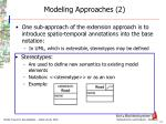modeling approaches 2