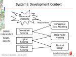 system s development context