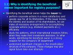 i 1 why is identifying the beneficial owner important for registry purposes