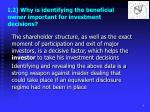 i 2 why is identifying the beneficial owner important for investment decisions